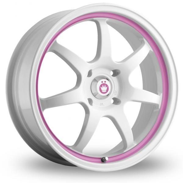 White & Pink Alloy Rims