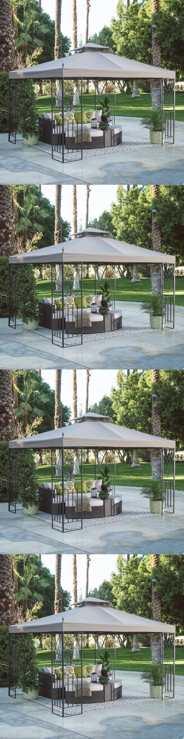 farm and garden: 10X12 Gazebo Canopy Deluxe Patio Outdoor Tent Shelter Backyard Garden Furniture -> BUY IT NOW ONLY: $249.99 on eBay!