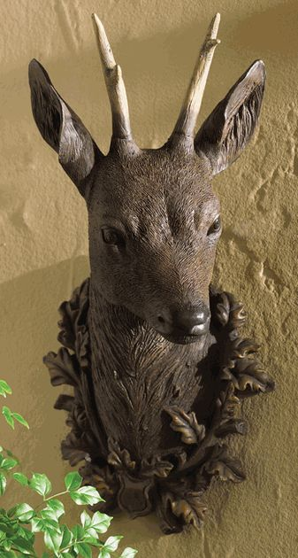 Black Forest Deer Mount   A Black Forest Decor Exclusive. Inspired By  Antique Bavarian Hunting Lodges, This Stunning Cast Resin Reproduction Black  Forest ...
