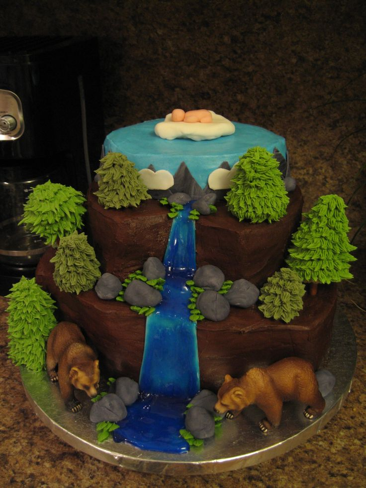 Wilderness Baby Shower cake | Oh baby! Let's have a party ...
