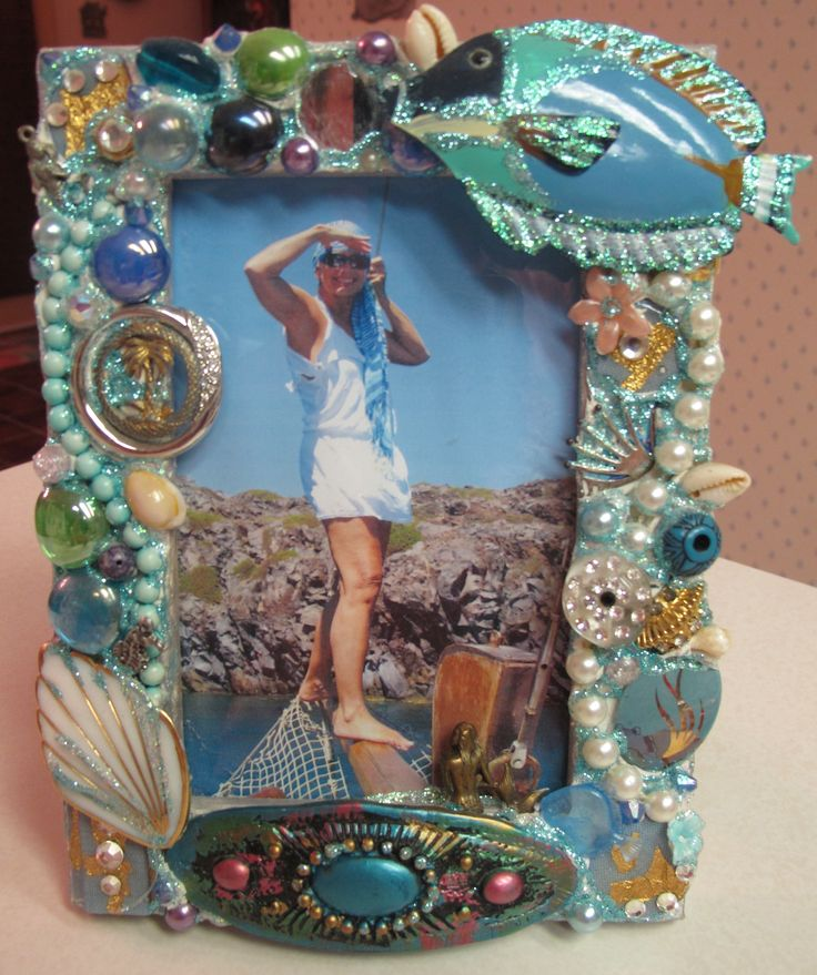 Mosaic Fish Frame by Christy O'Brien