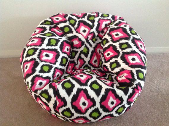 Bean Bag Candy Girl Hot Pink Lime Green by IslandHomeEmporium, $80.00