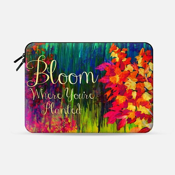 """Bloom Where You're Planted"" by Artist Julia Di Sano, Ebi Emporium on @casetify Fine Art Abstract Acrylic Painting Fun Rainbow Multicolor Floral Garden Bold Blower Typography Wisdom Quote Neon Ombre Inspiration Girly Summer Design Colorful Tech Device Macbook Laptop Sleeve #art #fineart #rainbow #colorful #neon #multicolor #flowers #bloomwhereyoureplanted #bloom #typography #inspiration #macbookpro #macbookair #sleeve #macbook #chic #ombre #tech #MacbookCover   Get $10 off using code: 5K7VFT"