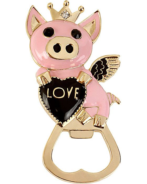LOVE PIG BOTTLE OPENER PINK accessories misc. gifts no sub class