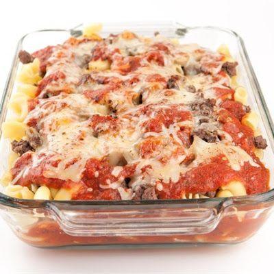 Venison / Hamburger Pizza Bake @keyingredient #cheese #cheddar