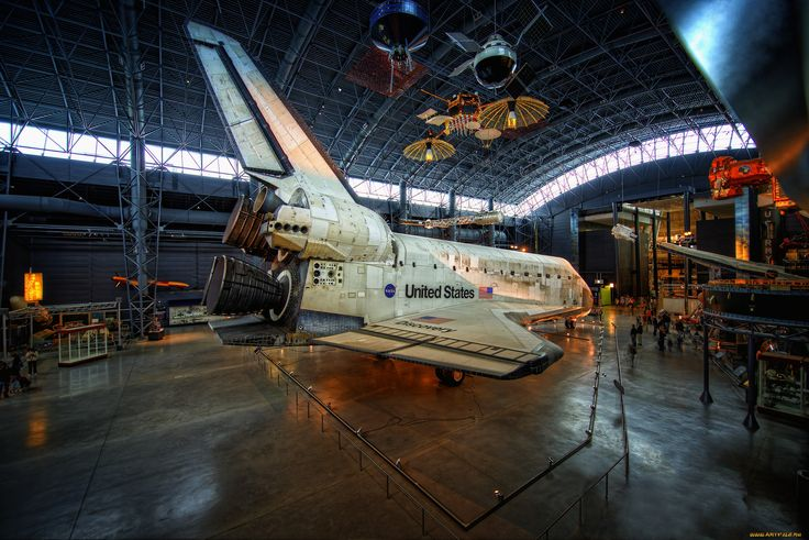 space shuttle discovery, космос, космические корабли,  космические станции, музей, шаттл