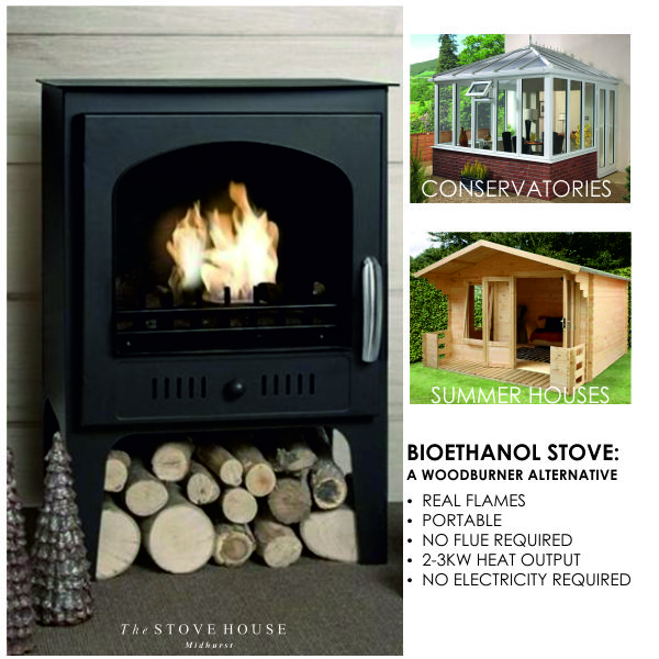 Bioethanol Fires Can Be Used Inside Or Outdoor As An Alternative Heat Source But With A Real Flame That Requires No C In 2020 Outdoor Heaters Stove Fireplace Fireplace