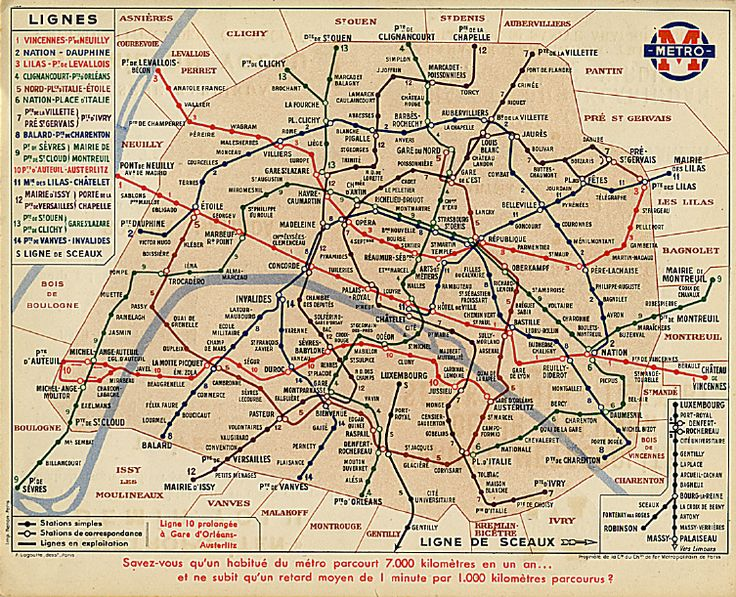 Sprague-Thomson.com - Métro de Paris - Plan du Métro 1939