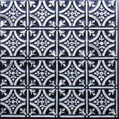 ceiling tiles 2 x 2 flat 150 antique silver decorative plastic ul rated can be