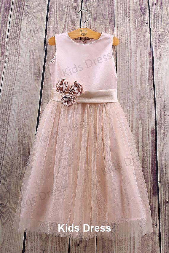 Aline Scoop Floorlength Tulle Pretty Flower Girl by kidsdress, $37.00 (Multiple colors)