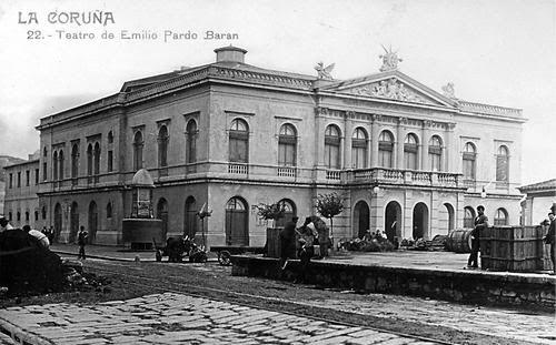 Teatro Emilia Pardo Bazán, actualmente sede de la Autoridad Portuaria  A Coruña. Galicia. Spain.
