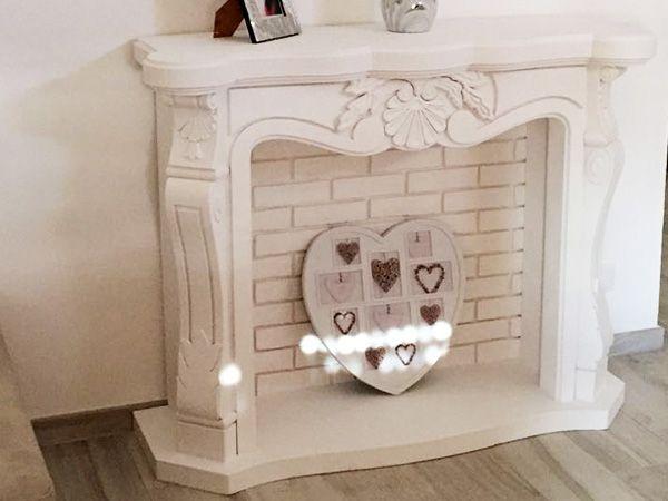 Faux fireplace Finto camino decorativo modello Liberty disponibile su www.materik.it #caminofinto #caminifinti #caminoclassico
