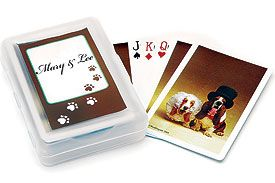 Bride and Groom Hounds Playing Cards