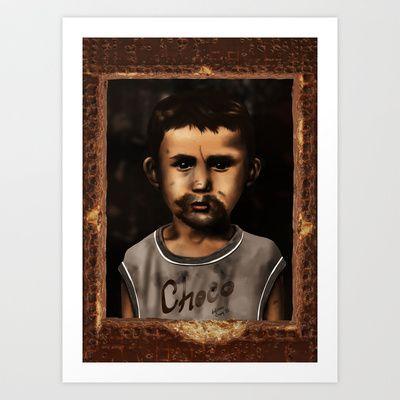 Child Class Hero Art Print by Lokman önsoy - $17.68