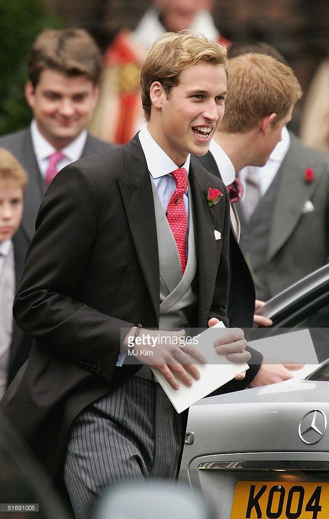 Prince William attends the wedding of Ed Van Cutsem and Lady Tamara...