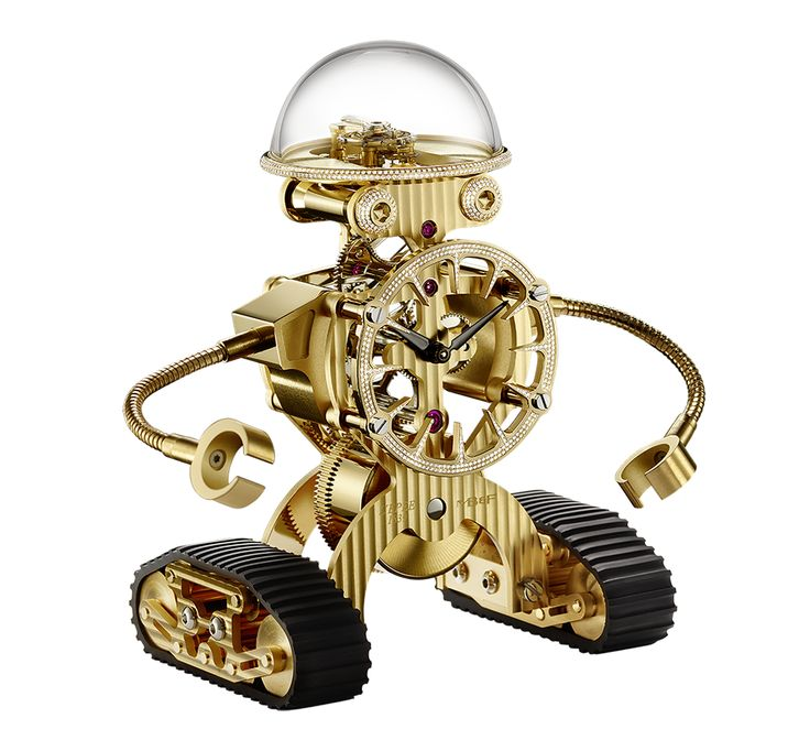 Sherman - Kinetic Sculpture - 8 days power reserve with a set of diamonds