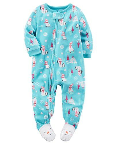 8de253252f Carter s Baby Girls  One Piece Footed Fleece Pajamas (18 Months ...