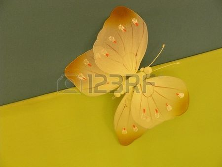 Artificial butterfly Stock Photo