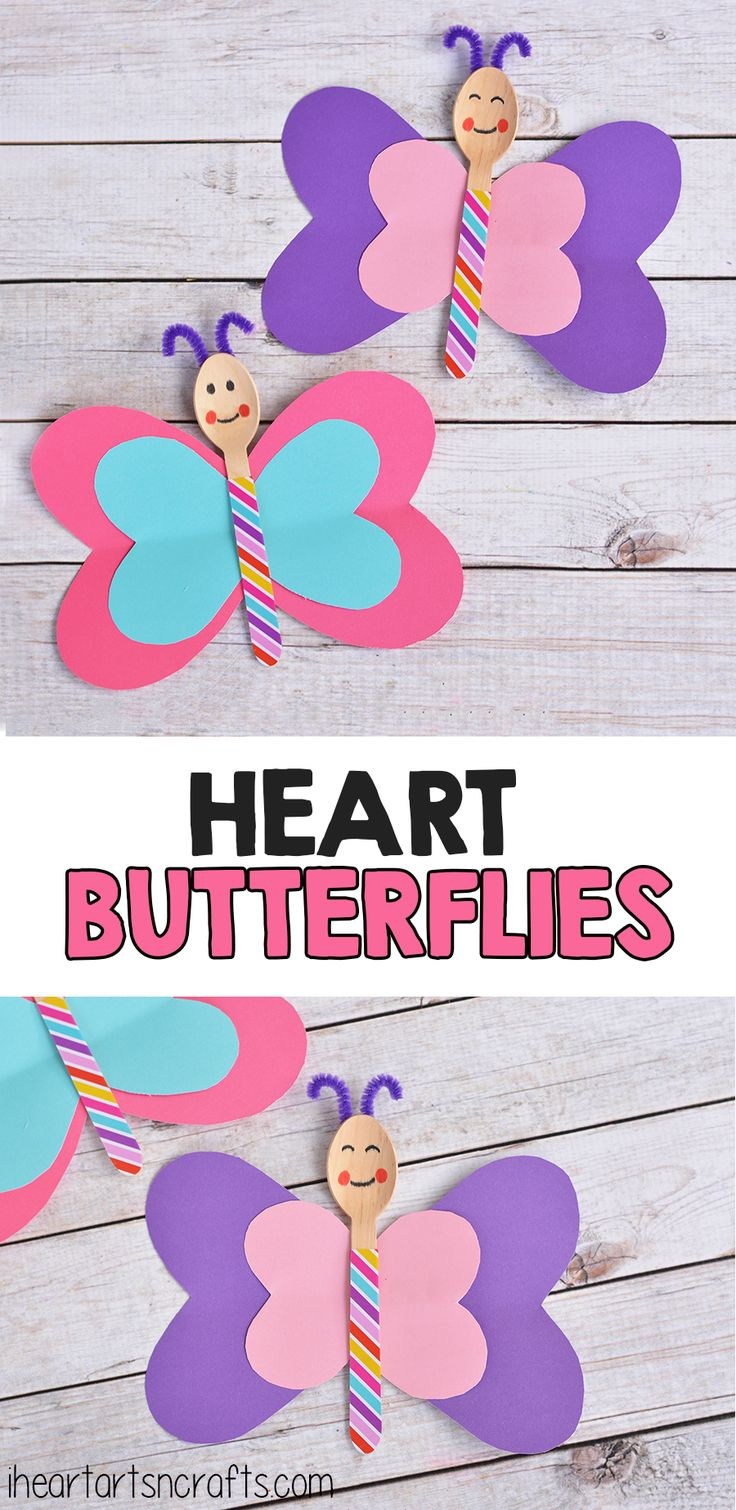 Spoon Heart Butterfly Craft! Cute idea for Valentine's Day speech therapy!