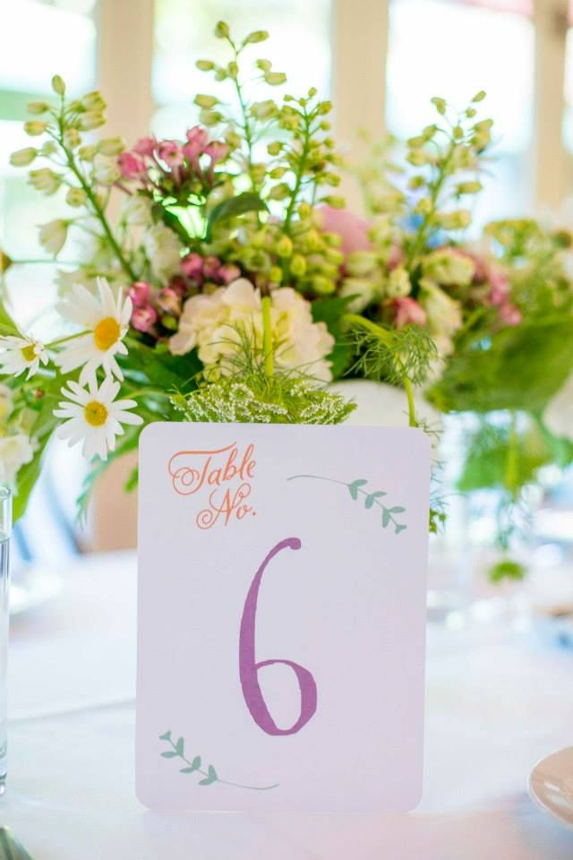 Natalie & Kevin - Table Numbers by Lulu & Bee. Photography by Mint Photography
