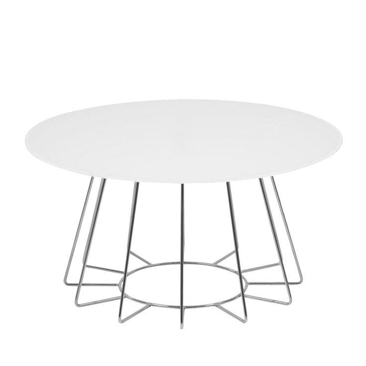 Couchtisch Motegi - Glas / Metall - Weiß / Chrom, Jack and Alice Jetzt bestellen unter: https://moebel.ladendirekt.de/wohnzimmer/tische/couchtische/?uid=3cbafa58-6623-56c4-b857-93a1f04871df&utm_source=pinterest&utm_medium=pin&utm_campaign=boards #möbel #beistelltische #couch #alice #wohnzimmer #couchtische #tische #jack