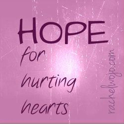 Speaking information page: Speaking to others about Hope in God through testimony of His work in my life @RachelWojo.com