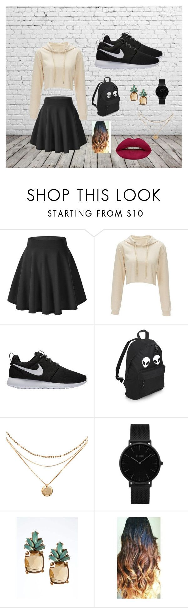 """""""casual"""" by nohelyrodriguez-1 on Polyvore featuring moda, NIKE, CLUSE, Banana Republic y Huda Beauty"""