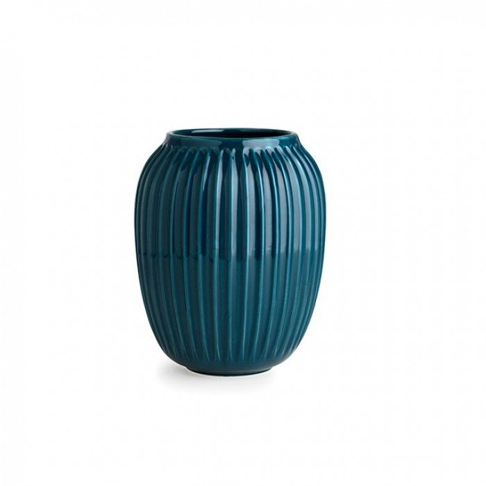 Kähler Hammershøi Vase Petrolblå       h:20cm