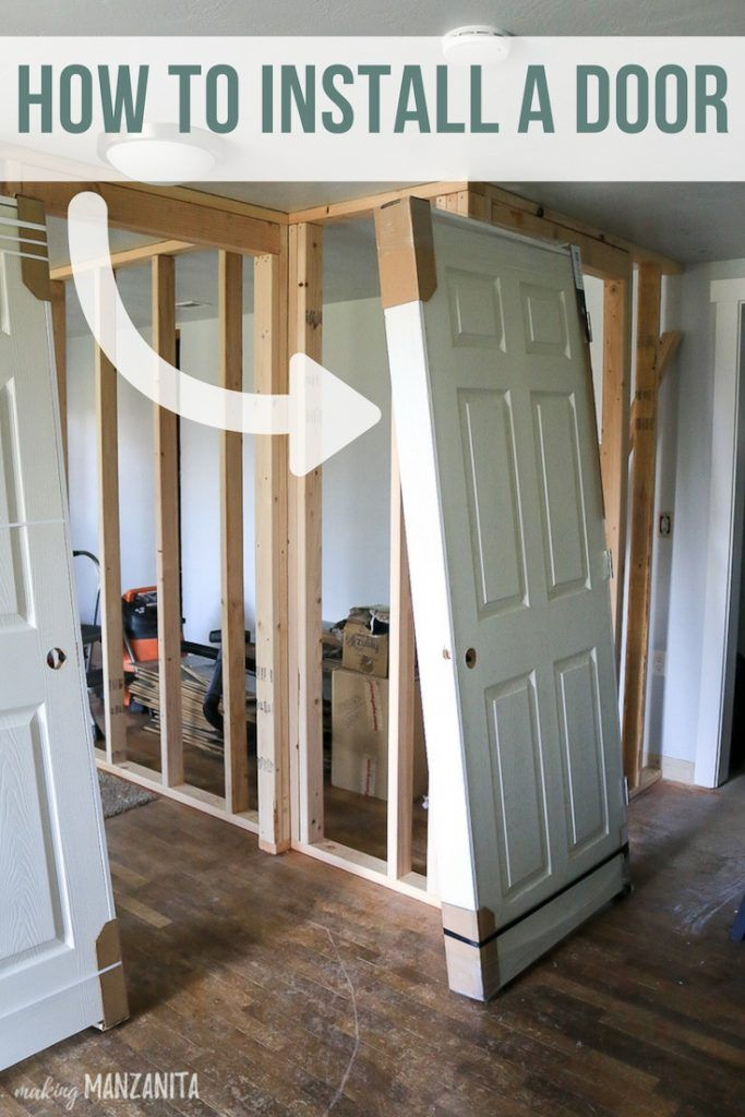 How To Install A Prehung Door With Images Prehung Doors Installation Contemporary Bathroom Designs