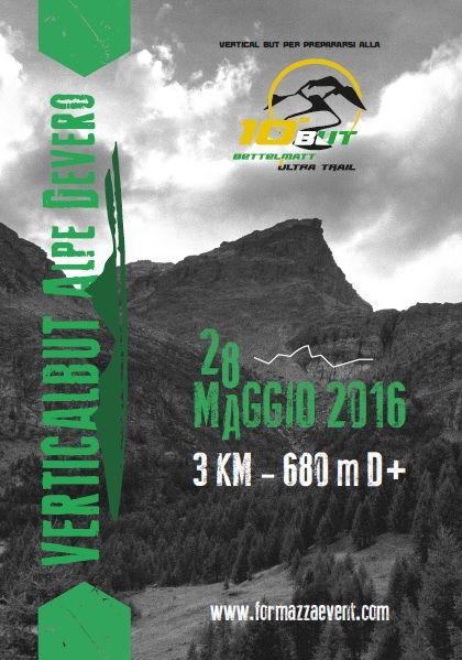 Vertical BUT, pensato come anteprima in vista di Bettelmatt Ultra Trail, in programma il prossimo 16/17 luglio, sarà gemellato con la Trasquera - Agro