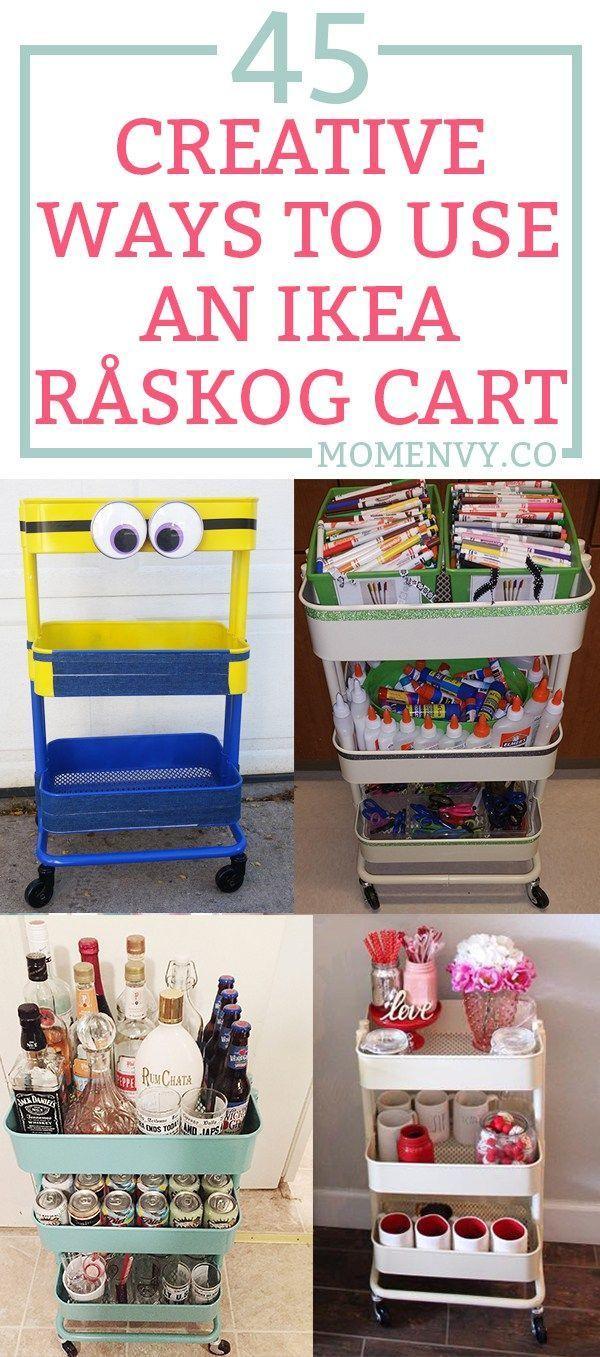 45 Creative Ways To Use A RASKOG Ikea Cart