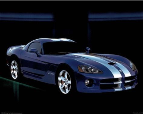 Dodge Viper Blue Car Art Print Poster Photo from AllPosters.com