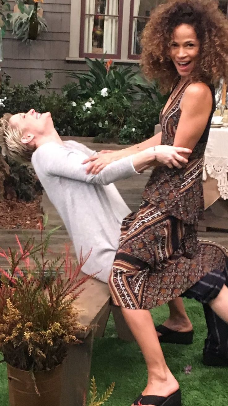 Just havin' fun! Teri Polo and Sherri Saum. The Fosters