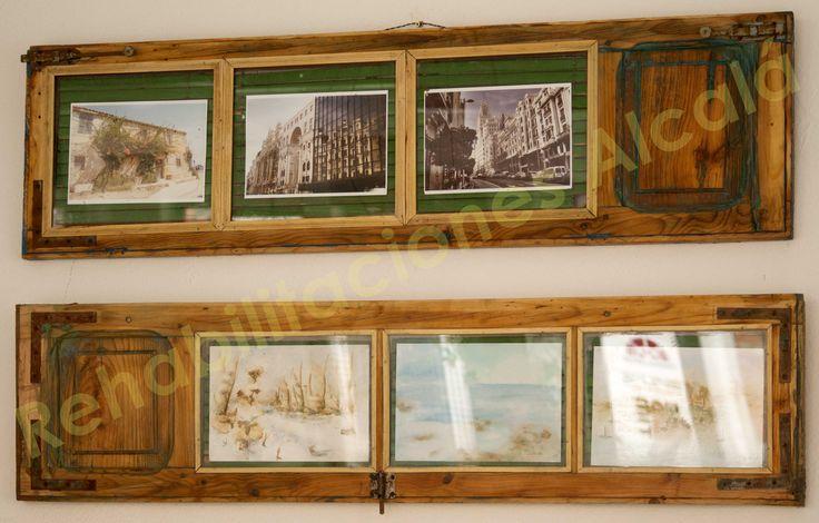 Reciclando ventanas. Marco para cuadros. DIY