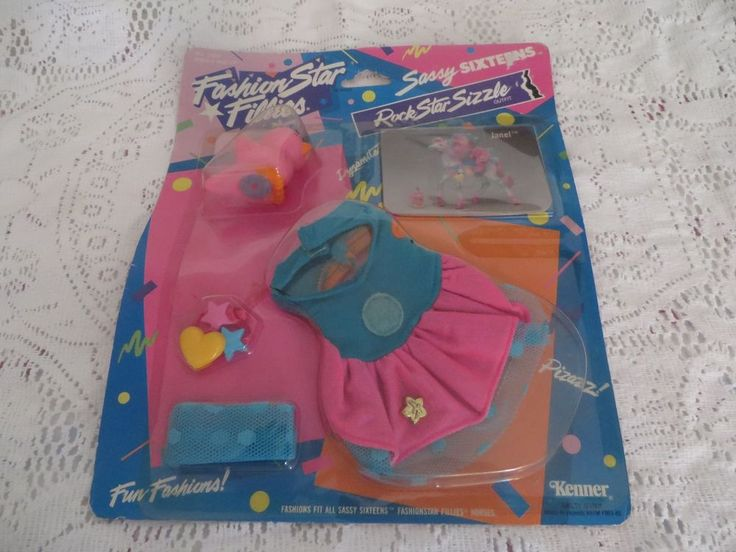 FASHION STAR FILLIES Vintage Outfit JANEL Prom Star COSTUME Sassy Sixteen Horse #Kenner