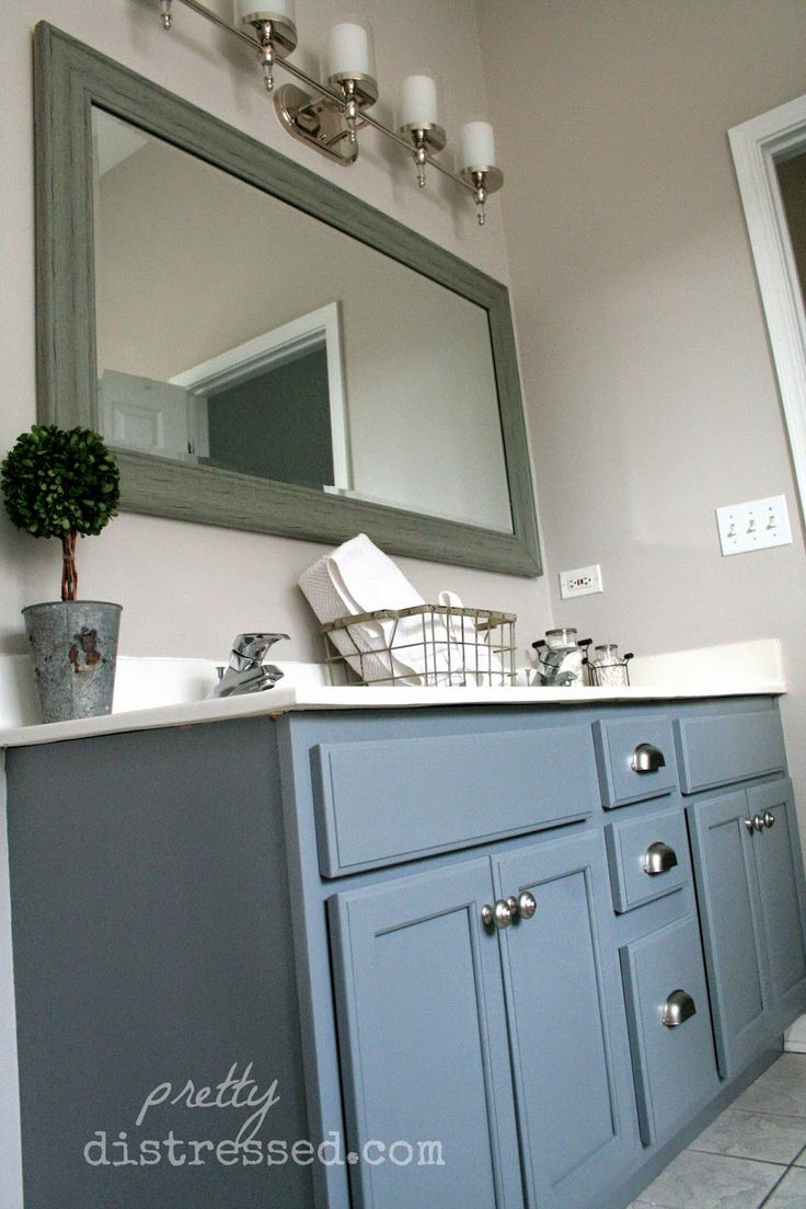 Bathroom Makeover Vanity best 25+ painting bathroom vanities ideas on pinterest | paint