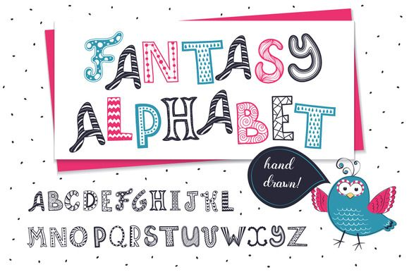 Fantasy letters collection by Olly Molly on @creativemarket