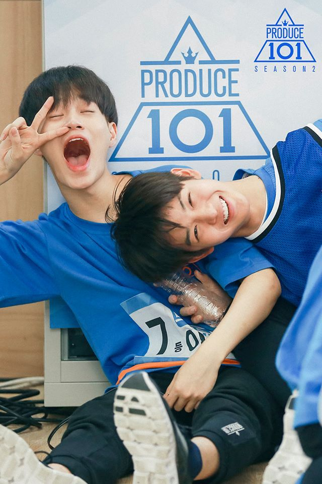 produce 101 season 2 lee daehwi bae jinyoung. I love their relationship <3
