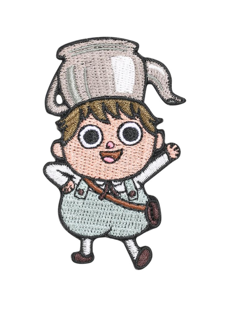 """<i>Did you know that if you soak a raisin in grape juice, it turns into a grape? It's a rock fact!<br><br></i>Embroidered iron-on patch from Cartoon Network's <i>Over the Garden Wall</i> featuring a design of Greg from the animated series.<br><ul><li style=""""list-style-position: inside !important; list-style-type: disc !important"""">Approx. 2"""" x 3""""</li><li style=""""list-style-po..."""