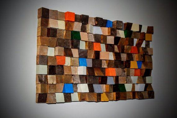 Arte mosaico in legno arte geometrica della parete di GBandWood