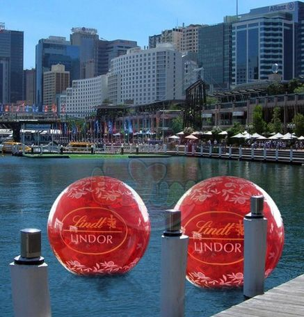 Water Ball / Advertising water ball branding cusom-made with 360 degree of artwork visivbility. can be seen in all directions