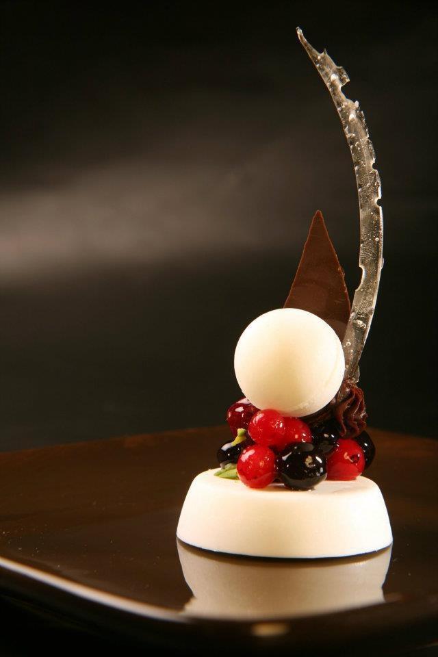 Decoratief dessert
