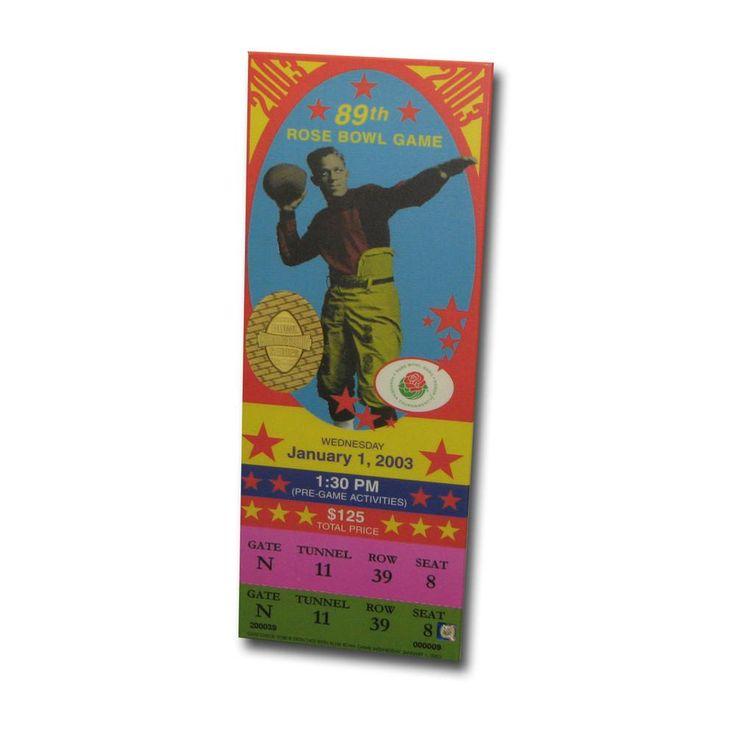 2003 Rose Bowl Game Mega Ticket