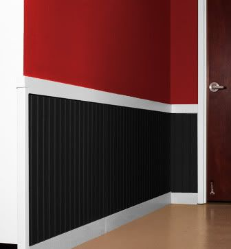 Red   Black Walls with White Chair Rail. 20 best Red Black   White Craft Room images on Pinterest   Black