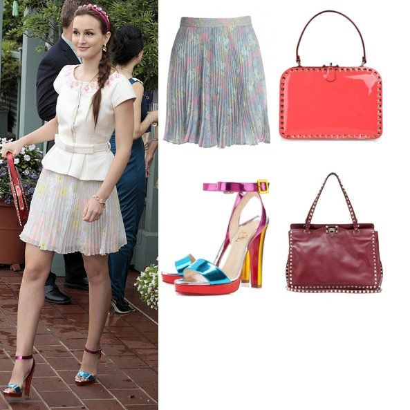 high fidelity blair waldorf in an alice olivia floral pleated skirt - Blair Waldorfzimmer