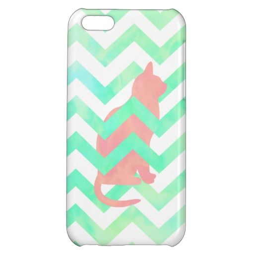 Coral Pink Kitten Cat Turquoise Chevron Pattern iPhone 5C Cover http://www.zazzle.com/coral_pink_kitten_cat_turquoise_chevron_pattern_iphone_case-256143913425080978?rf=238194283948490074&tc=pfz