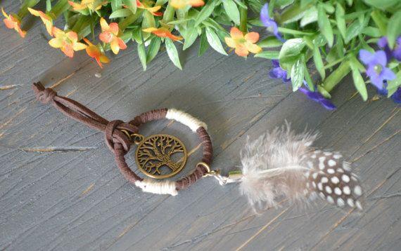 Dream Catcher Keychain Accessory, Boho Keychain Accessory, Feather Keychain, Tree Of Life Keychain