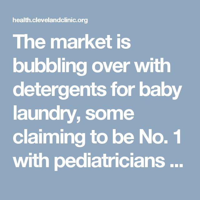 "The market is bubbling over with detergents for baby laundry, some claiming to be No. 1 with pediatricians or recommended by dermatologists. Washing children's clothing and blankets in gentle, hypoallergenic detergent can help protect delicate skin. Advertising Policy But when can you start washing Baby's items with the regular family laundry? ""There is no set … <a class=""moretag"" href=""https://health.clevelandclinic.org/2014/12/is-laundry-detergent-causing-your-chil..."