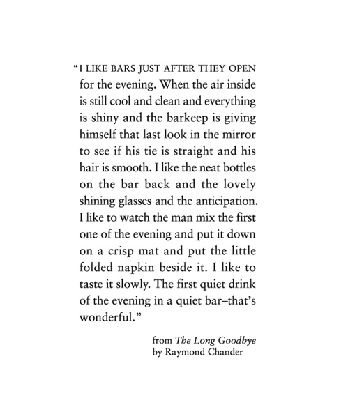 The Long Goodbye by Raymond Chandler.
