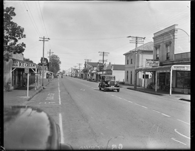 View of Main Street Greytown in 1951.